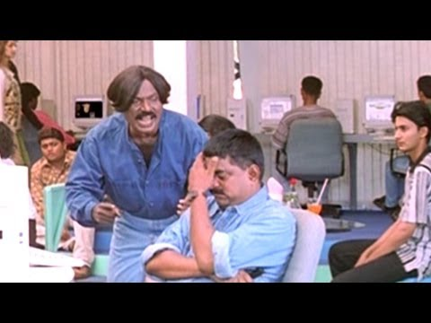 Goundamani & Chinni Jayanth Comedy Scene In Net Cafe - Premikula Roju Movie