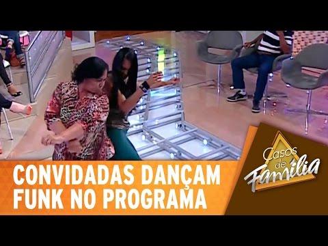 Convidadas dançam funk no programa
