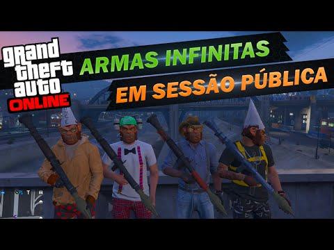 GTA V ONLINE - ARMAS INFINITAS E RPG ATIRANDO IGUAL METRALHADORA EM SESSÃO PÚBLICA OU PRIVADA