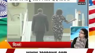 US President Barack Obama, First Lady Michelle Obama bid goodbye to India - ZEENEWS
