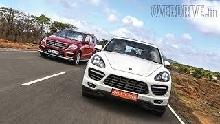 2014 Porsche Cayenne Turbo v/s Mercedes-Benz ML63 AMG - Comparative Review (India)