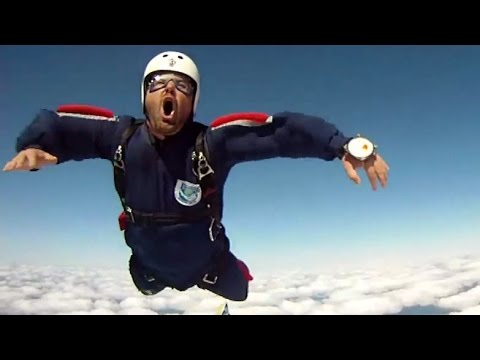 THE OH FACE: Skydiver Kicked In The Junk At High Speed!