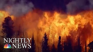 Firefighters Battle Wildfires And Heat On West Coast | NBC Nightly News - NBCNEWS