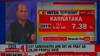Lok Sabha Election 2019 Phase 3 Voting: Voter Turnout in 14 states, 2 UT, 117 seats till 9:00 AM - NEWSXLIVE