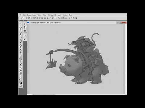 Photoshop tutorial - grayscale
