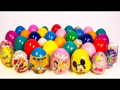 SURPRISE EGGS PEPPA PIG MICKEY MOUSE MINNIE MOUSE Маша и Медведь POCOYO FROZEN PLAY DOH EGGS