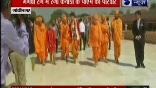 कनाडाई प्रधान मंत्री ने अपनी पत्नी और बच्चों के साथ, किया गांधीनगर में अक्षरधाम मंदिर का दौरा - ITVNEWSINDIA