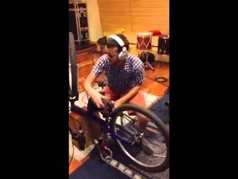 Gravando uma bike