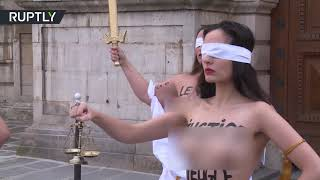 Justice is blind... & topless? FEMEN protest proposed rape law changes - RUSSIATODAY