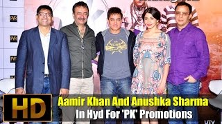 Aamir Khan And Anushka Sharma In Hyd For 'PK' Promotions - IGTELUGU