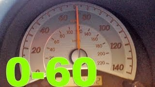 Scion TC 060 090 mph acceleration 5 speed manual  YouTube