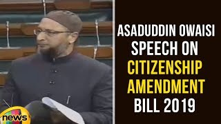 Asaduddin Owaisi Speech On Citizenship (Amendment) Bill 2019 | Parliament Session | Mango News - MANGONEWS