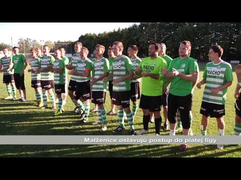 Dynamo Malženice oslavuje postup do piatej ligy
