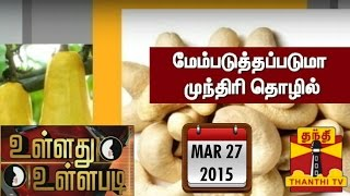 "Ullathu Ullapadi 27-03-2015  ""Will the Situation of Cashew Industry Improve.?"" – Thanthi Tv Show"