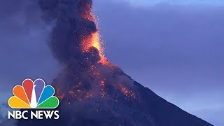Volcano's Spectacular Fiery Display Threatens 56K In The Philippines | NBC News - NBCNEWS