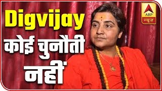 Digvijaya Singh is not a challenge: Sadhvi Pragya - ABPNEWSTV