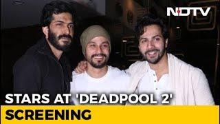 Varun Dhawan, Harshwardhan Kapoor & Kunal Kemmu At 'Deadpool 2' Screening - NDTV