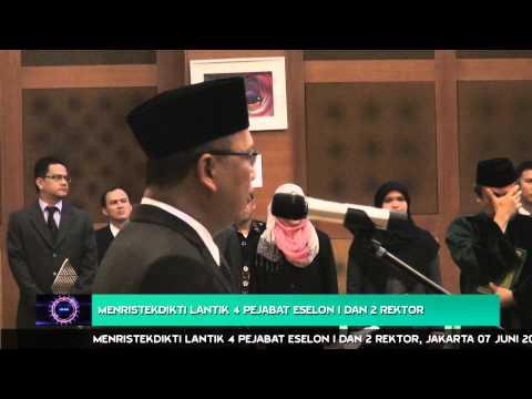 Menristekdikti Melantik Pejabat Eselon 1 dan Rektor