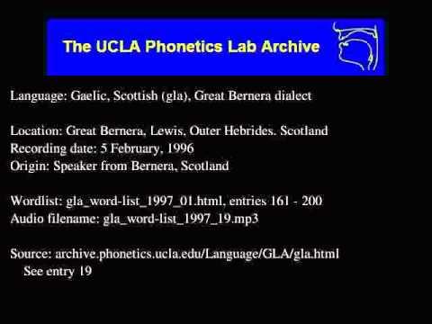 Gaelic, Scottish audio: gla_word-list_1997_19