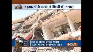 Greater Noida Building Collapse: Three bodies recovered, three people have been arrested - INDIATV