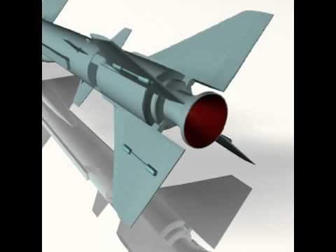 3D Model of Iranian Noor Cruise Missile