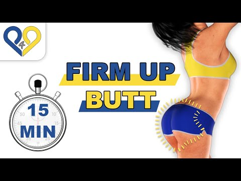 Firm up / toning buttocks workout - Level 1 - No Music