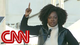 Viola Davis speaks at Women's March - CNN