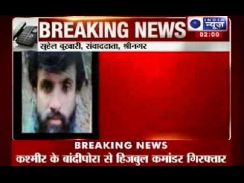 India News: Top Hizbul Mujahideen commander Talib Lali arrested