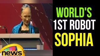 World's 1st Robot Citizen Sophia Inspirational Speech at WCIT | Mango News - MANGONEWS