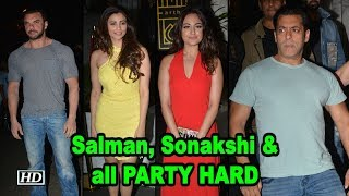 Salman, Sonakshi PARTY HARD at Zaheer Iqbal's Birthday Bash - BOLLYWOODCOUNTRY