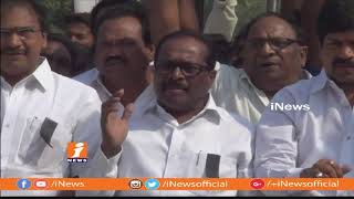 Minister Kollu Ravindra and Konakalla Narayana Agitation On MPs Suspension | Machilipatnam | iNews - INEWS