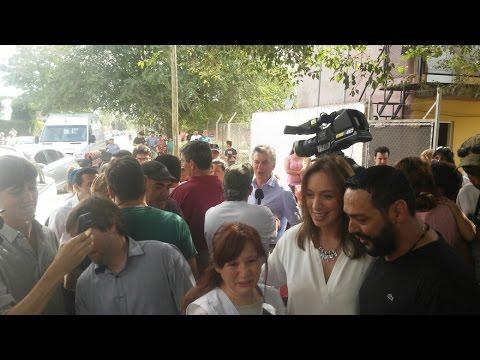 El presidente Macri y la gobernadora Vidal visitaron a una joven familia morenense
