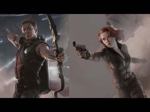 The Avengers Jeremy Renner & Scarlett Johansson Interview at D23 Expo