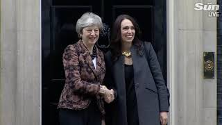 Theresa May meets Kiwi PM Jacinda Ardern at No 10 - THESUNNEWSPAPER