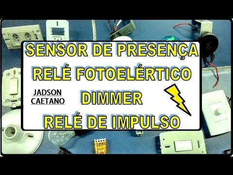 Relé Fotoelétrico, Relé de Impulso, Sensor de Presença Melhor Aula