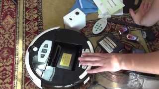 Китайский робот-пылесос. Обзор. Демонстрация работы.