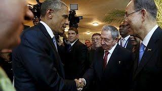 لقاء تاريخي بين باراك أوباما و فيدال كاسترو في باناما