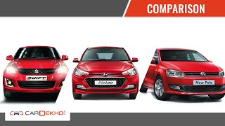 Comparison Story- Elite i20 Vs Polo Vs Swift | CarDekho.com