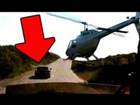 Amazing Helicopter Flying Car Chase