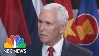 Mike Pence On Robert Mueller Investigation: 'We'll Continue To Cooperate' | NBC News - NBCNEWS