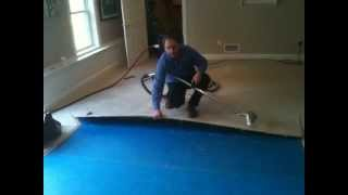 Water Removal Flooded Carpet Pad Water Damage Уроки