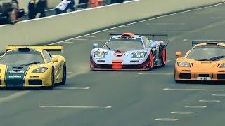 شاهد تجمع 16 نسخة من متسابقة مكلارين  F1 GTR بحدث جودوود