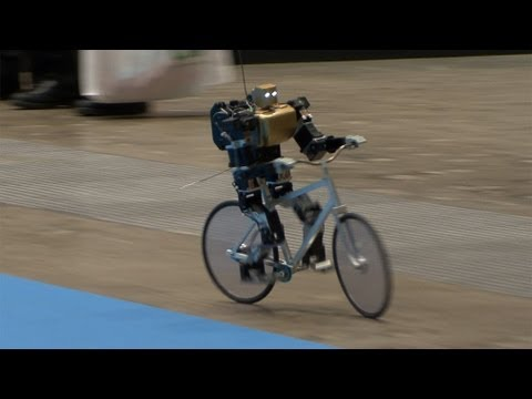 Amazing Bike Riding Robot! Can Cycle, Balance, Steer, and Correct Itself. #DigInfo