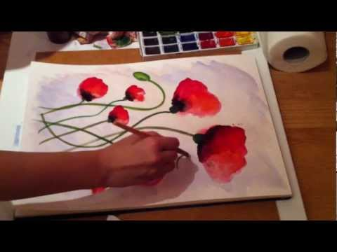 Poppy Spree - Week 2 Painting