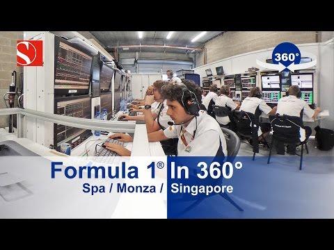 Видео: Паддок Формулы 1 в панорамной съемке