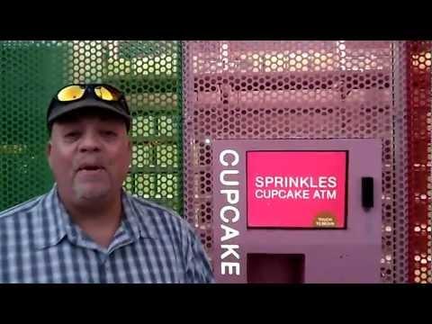 Sprinkles Cupcakes Beverly Hills Cupcake ATM @VegasBiLL @24k 2-4-13