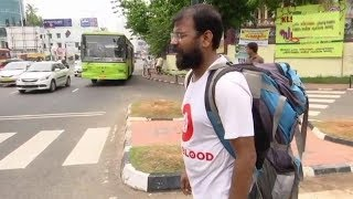 Kerala man travels 6,000 km on foot to spread awareness about blood donation - TIMESOFINDIACHANNEL