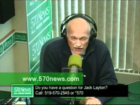 Pt 1 - Jack Layton speaks with 570's Gary Doyle