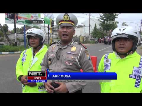 Sosialisasi Kecelakaan Lalu Lintas, Polisi Dandan Layak Korban Kecelakaan - NET5