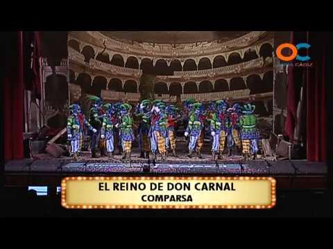 Sesión de Preliminares, la agrupación El reino de Don Carnal actúa hoy en la modalidad de Comparsas.